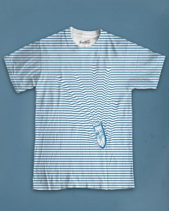 Stripes optical illusion Tee