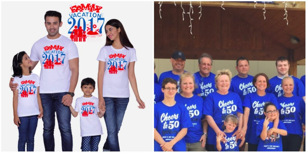 custom t-shirts for family