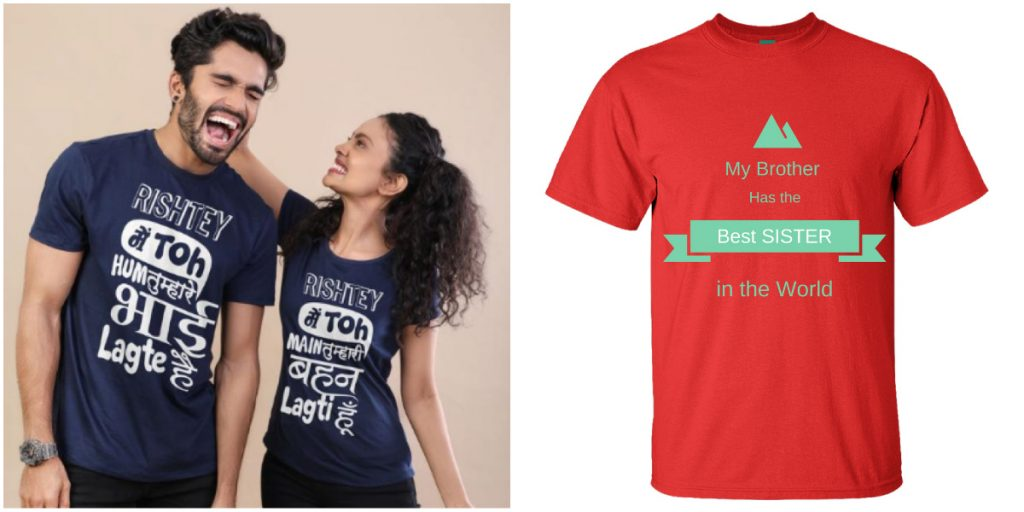 5 Raksha Bandhan Customized T-Shirt Ideas for you Sister