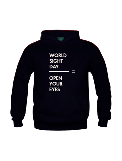 World Sight Day black hoodie